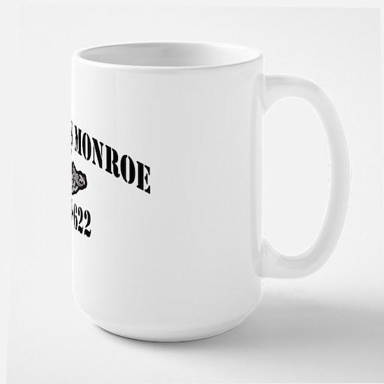 jmonroe black letters Large Mug