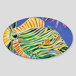 Tile Trigger fish Sticker (Oval)