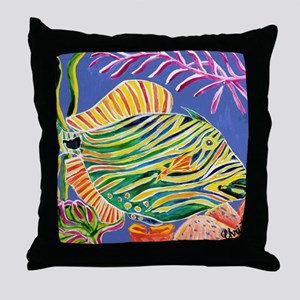 Tile Trigger fish Throw Pillow