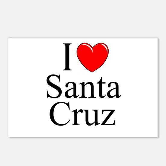 """I Love Santa Cruz"" Postcards (Package of 8)"