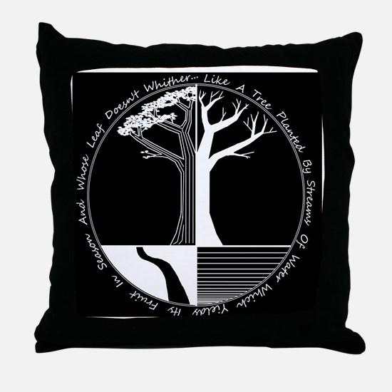 Living Tree Black Throw Pillow