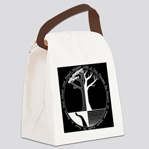 Living Tree Black Canvas Lunch Bag