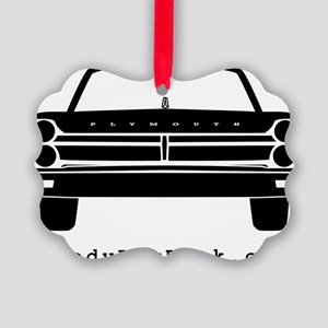 65 Front Black Picture Ornament