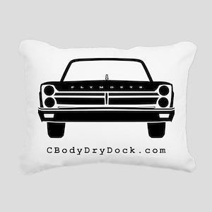 65 Front Black Rectangular Canvas Pillow