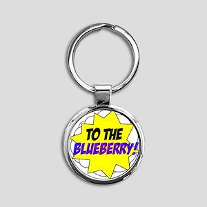 blueberry Round Keychain