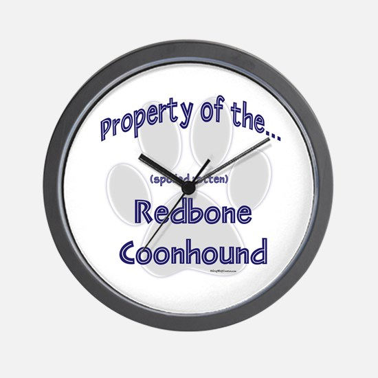 Coonhound Property Wall Clock