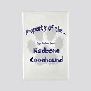 Coonhound Property Rectangle Magnet