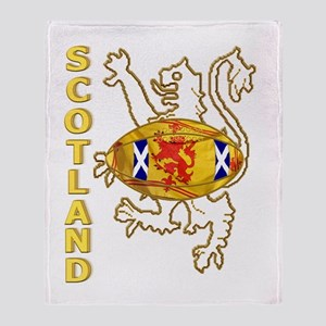 Scottish Saltire and Lion Rugby Throw Blanket
