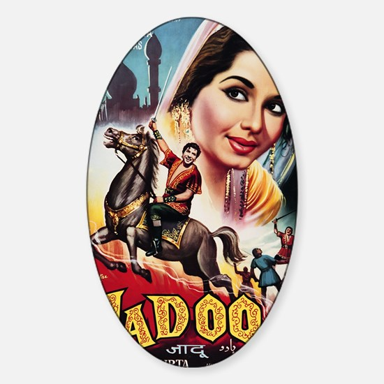 gr_art_of_bollywood_04 Sticker (Oval)