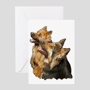 german shepherd long coat  Greeting Card