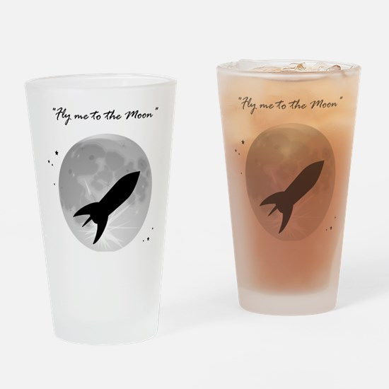 Fly me to the moon 2 Drinking Glass