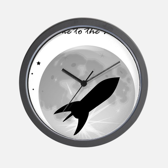Fly me to the moon 2 Wall Clock