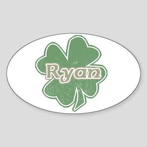 """Shamrock - Ryan"" Oval Sticker"