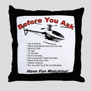 beforeyouask Throw Pillow