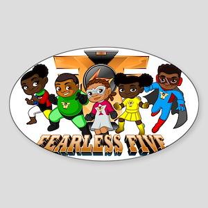 Fearless Five w Logo Sticker (Oval)