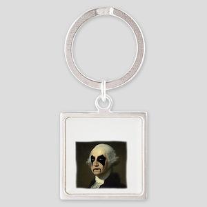 WASHINGTON GOLD Square Keychain