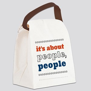 itsAboutPeoplePeople_2000x2000x20 Canvas Lunch Bag