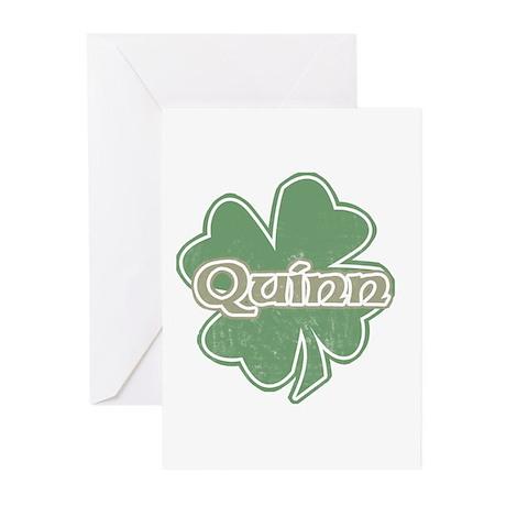 """Shamrock - Quinn"" Greeting Cards (Pk of 10)"