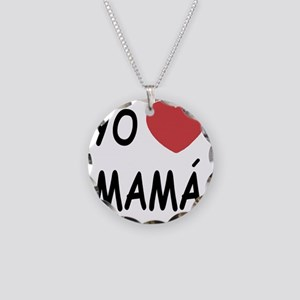 mama Necklace Circle Charm