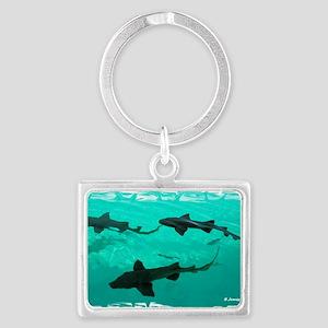 Shark Mug Landscape Keychain