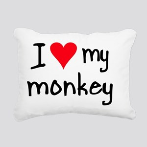 iheartmonkey Rectangular Canvas Pillow