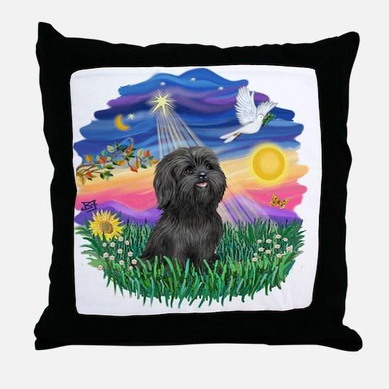 Twilight-BlackShih Tzu Throw Pillow