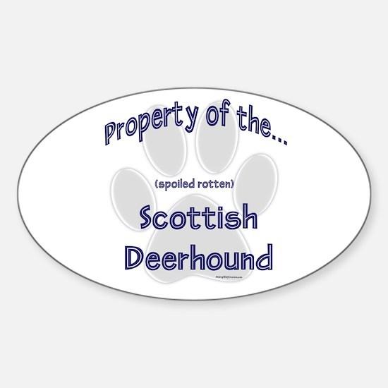 Deerhound Property Oval Decal