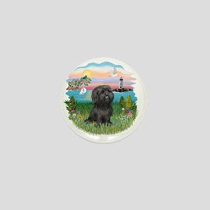 LightHouse-Black Shih Tzu Mini Button
