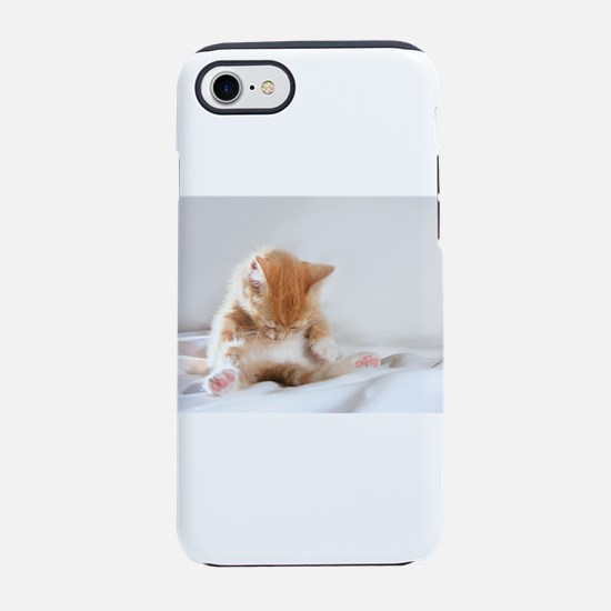 Sleepy Kitty iPhone 7 Tough Case