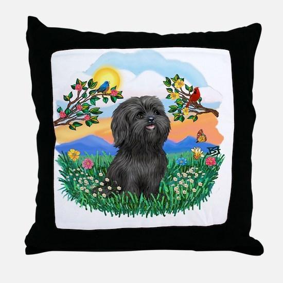 BrighLife-Black Shih Tzu Throw Pillow