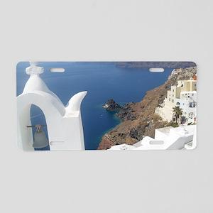 Santorini, Greece Aluminum License Plate