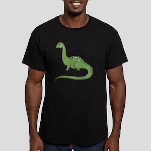 Long Neck Dinosaur Men's Fitted T-Shirt (dark)