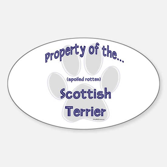 Scotty Property Oval Decal