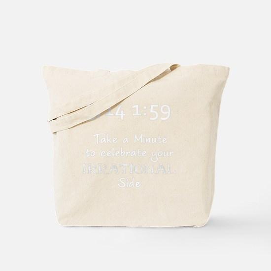 pie-minute-5-english-whiteLetters copy Tote Bag