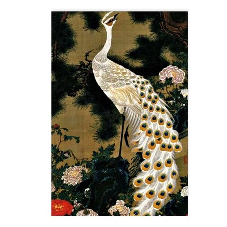Ito Jakuchu: Old Pine Tre Postcards (Package of 8)