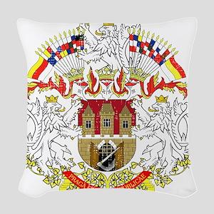 2000px-Praha_CoA_CZ Woven Throw Pillow