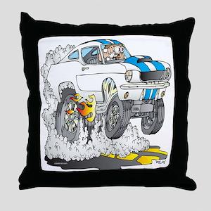 Creekrat_CARtoons_Shelby_Mustang_Tee  Throw Pillow
