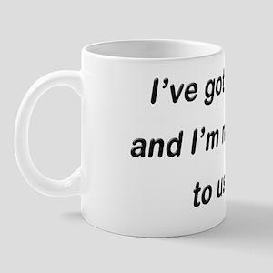 afraid Mug