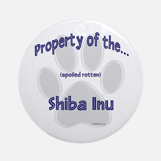 Shiba Inu Property Ornament (Round)