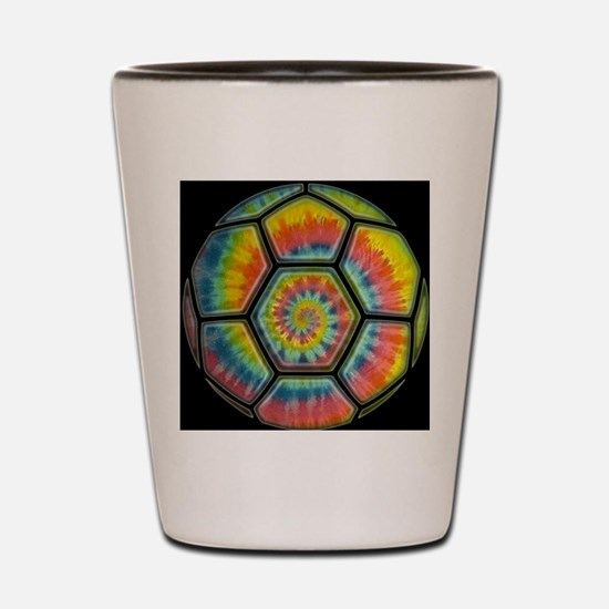 soccer-tiedye-CRD Shot Glass