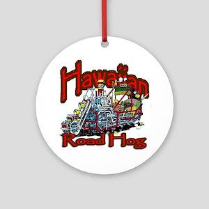 Hawaiian Road Hog shirt Round Ornament