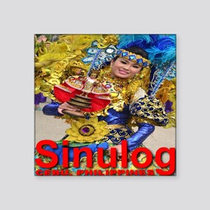 "sinulog_cebu_philippines Square Sticker 3"" x 3"""