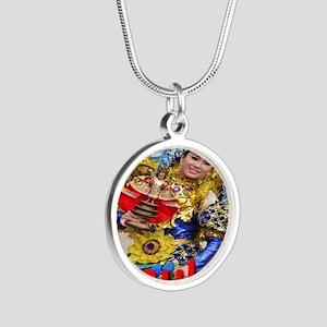 sinulog_cebu_philippines Silver Round Necklace
