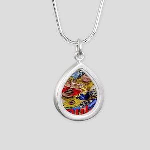 sinulog_cebu_philippines Silver Teardrop Necklace