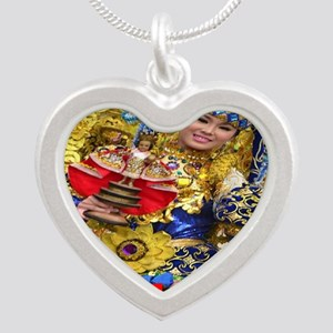 sinulog_cebu_philippines Silver Heart Necklace