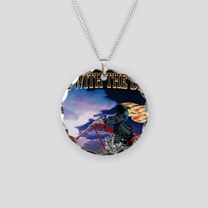 Ride with the Devil Necklace Circle Charm