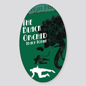 clean black orchid Sticker (Oval)