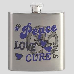 D ALS Peace Love Cure 2 Flask