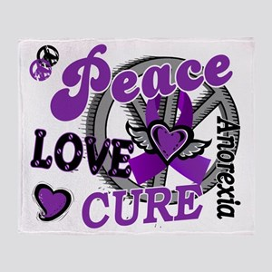 D Anorexia Peace Love Cure 2 Throw Blanket