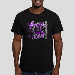D Alzheimers Peace Lov Men's Fitted T-Shirt (dark)